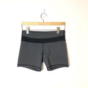 LULULEMON Gray & Black Biker Shorts Size 6